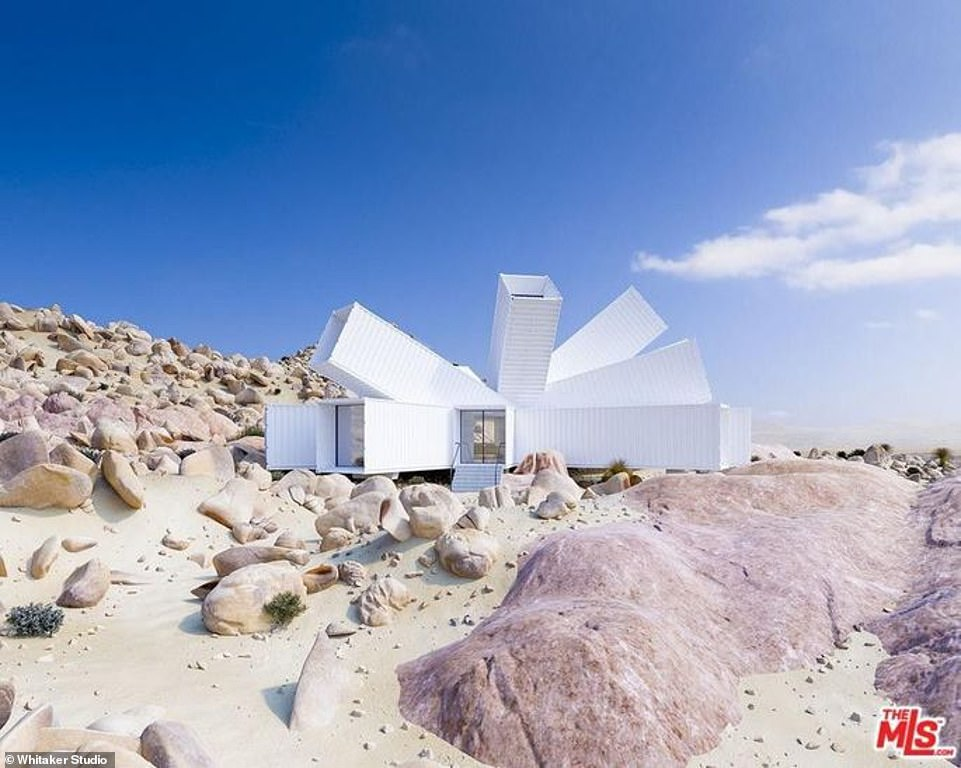 Home made from shipping containers and dubbed the 'Starburst' is selling for .5M in Joshua Tree