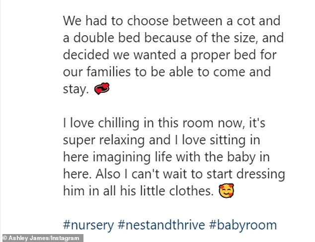 Giving a tour: She uploaded a video tour of her baby's new room on Instagram on Thursday