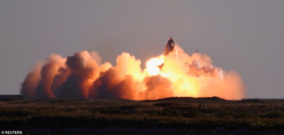 The mishap comes just three days after SpaceX's prototype SN8 completed its first 41,000-foot high-altitude flight that ended up exploding once it returned to the ground.