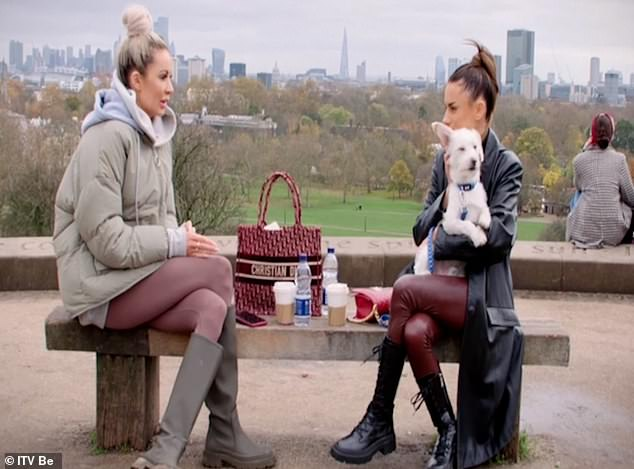 Pals: Olivia will also reunite with her pal Amber Davies in the latest episode of her reality show, as they meet for a walk around London's Primrose Hill