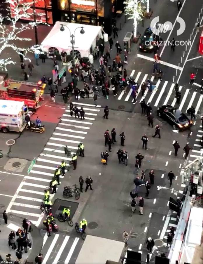According to initial reports from the scene, a motorist crashed into a group of protesters at an intersection near Lexington Avenue and 39th Street on Friday just after 4 p.m.