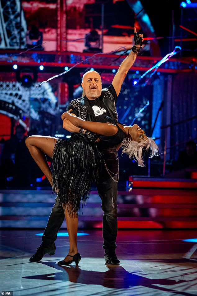 To win it: Fast forward a few months and the comedian, 55, prepares to make the final on Saturday, with Bill saying it would be 'wonderful' to reach the final