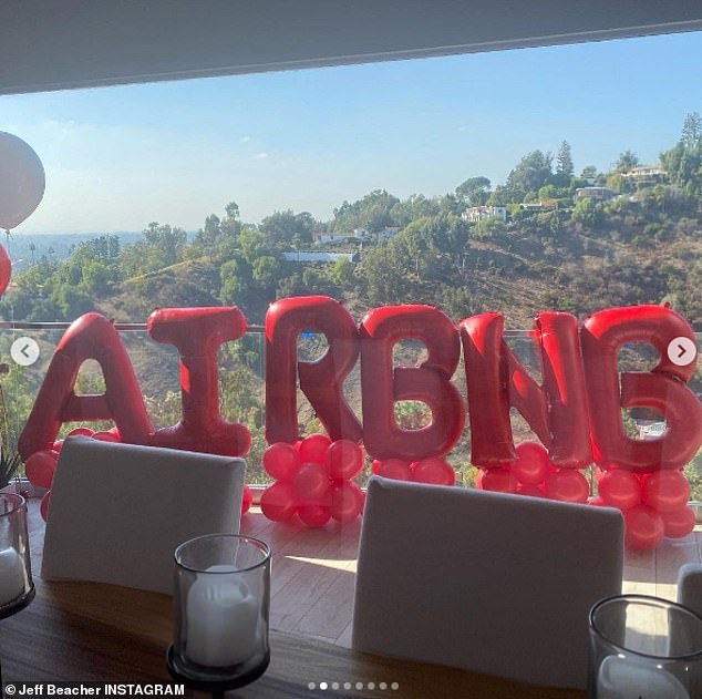 Statement: Six enormous balloons on Beacher's balcony spelled out 'AIRBNB'