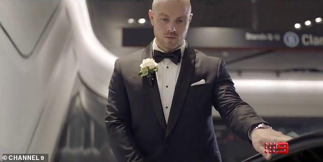 Thoughs? Another groom seems a little nervous as he rides up an escalator