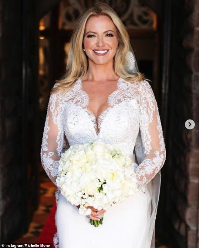 Beautiful! Michelle Mone radiated beauty as she shared more snaps of her stunning wedding dress on Instagram on Saturday and divulged details of her dress