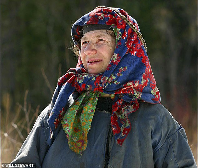 Agafya Lykova, 76, is thesurvivor of a family that in 1936 fled into the forest - where she was born - to avoid religious persecution under Stalin. She has lived there all her life