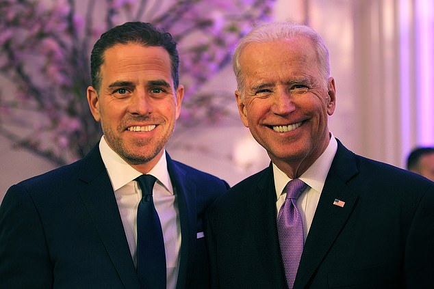 Hunter Biden (left) confirmed the existence of the investigation on Wednesday, saying he learned about it for the first time the previous day