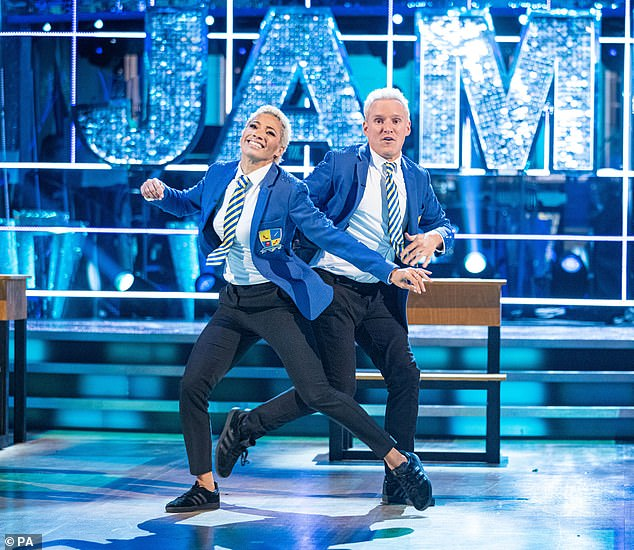 """Doing his best: Jamie said of starting the show, 'I went into Strictly thinking """"this is going to be amazing, I'm going to reach the final, I'm going to win it""""... and then I was in the dance off'"""