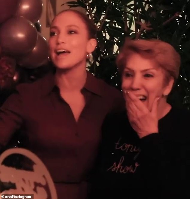 Jennifer Lopez and Alex Rodriguez throw a surprise 75th birthday party for her mother Guadalupe
