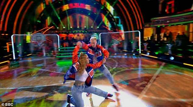 Wow:EastEnders star Maisie, 19, got off to a brilliant start as she and pro partner Gorka Marquez, 30, wowed with the Couple's Choice hip-hop routine to Gettin' Jiggy Wit It by Will Smith