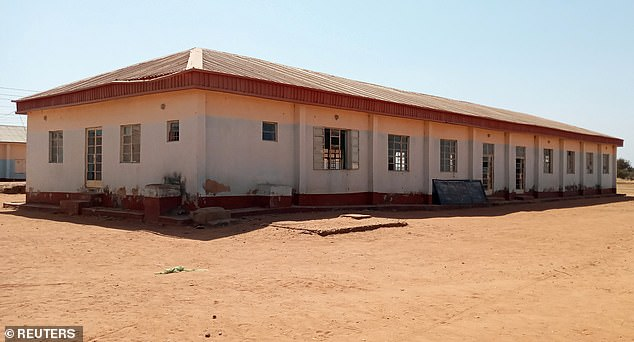 School pictured after being attacked by bandits.  Police said they were working with the military and air force to determine the number of students missing or kidnapped and to locate them.