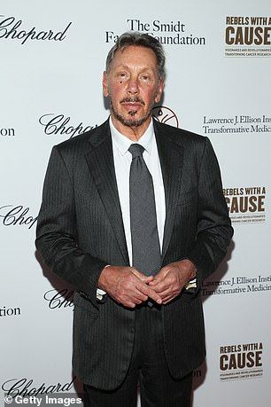 Oracle's CEO Larry Ellison, pictured above, is also the second-largest individual shareholder in Tesla