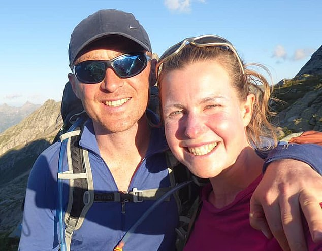 A spokesperson for Daniel Colegate (pictured with Esther) said: 'There is no indication that Esther was seeking a new life'