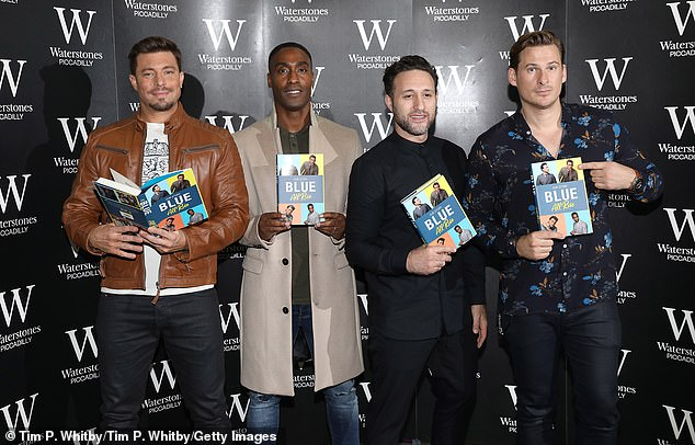 Hint: Duncan hinted that 'there could be something in the pipeline as we're really good mates' (pictured in 2017 signing copies of their book Blue: All Rise: Our Story)
