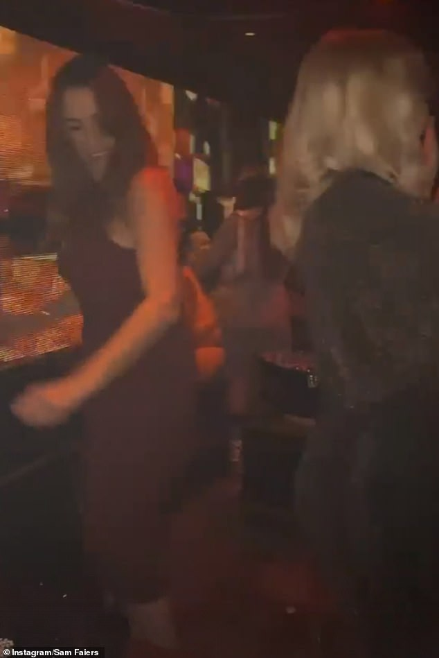 In their element: The birthday girl's relatives let loose as they enjoyed a boogie on a dancefloor