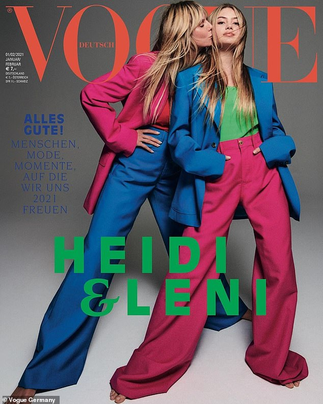 Budding supermodel: The blonde trio appeared to prove attractiveness is genetically heritable, just days after Leni made her modeling debut on the cover of Vogue Germany