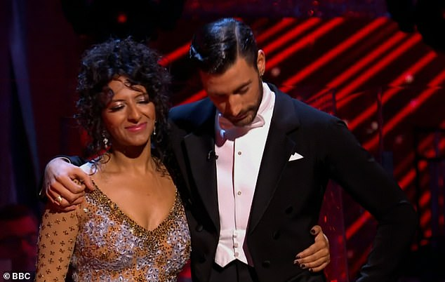 All over:Ranvir Singh became the seventh celebrity to depart the dance floor in Strictly Come Dancing 2020 on Sunday, following a dance-off against Jamie Laing
