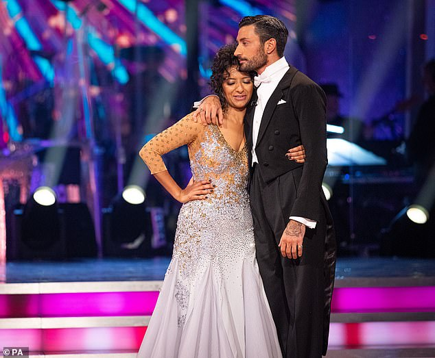 All over: Ranvir Singh became the seventh celebrity to depart the dance floor, following a dance-off against Jamie Laing