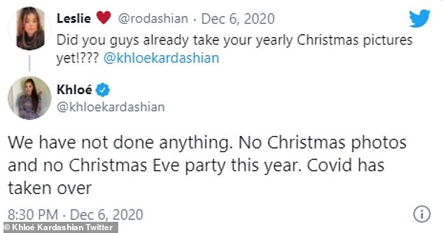 Sad: In addition to putting a halt to their festive affair, the Kardashian/Jenner brood will not be taking Christmas card photos