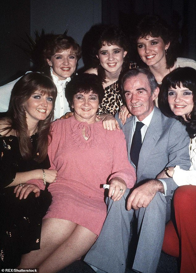 All Together: The Nolan sisters - Anne, Denise, Maureen, Linda, Bernadette and Coleen - were part of Irish pop group The Nolans (pictured with their parents in 1982)