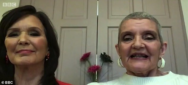 Wonderful news: Anne (right) recently revealed that her cancer was 'gone' after going through chemotherapy (Maureen is pictured left)