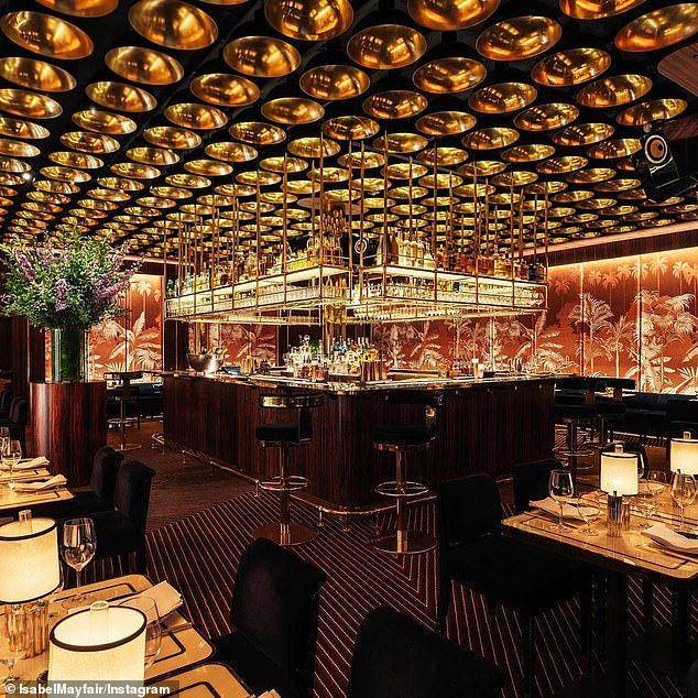 The three-hour dinner at Isabel (pictured) has been brushed off as an 'introductory work meeting' by royal sources - which would make it permissible under current rules