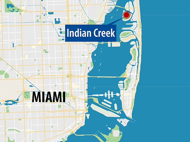 The island, off the coast of Miami, was nicknamed 'Billionaire Bunker' because of the high-profile people who have settled there, from Adriana Lima to billionaire businessman Carl Icahn