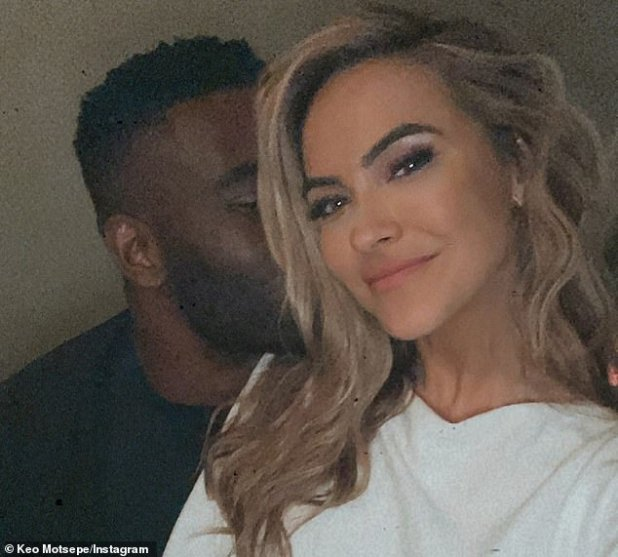 Watch of Love: Keo confirmed this month's romance by uploading a social media picture that revealed Chrishell kissing him affectionately on the cheek