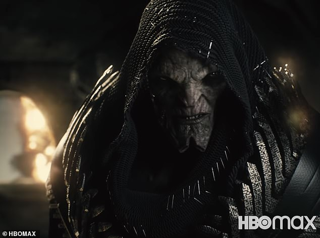 Villain:The director also revealed that the villain Steppenwolf (Ciaran Hinds), 'is pretty much just hacking people in half,' adding the R rating would likely be attributed to, 'violence and profanity, probably both'