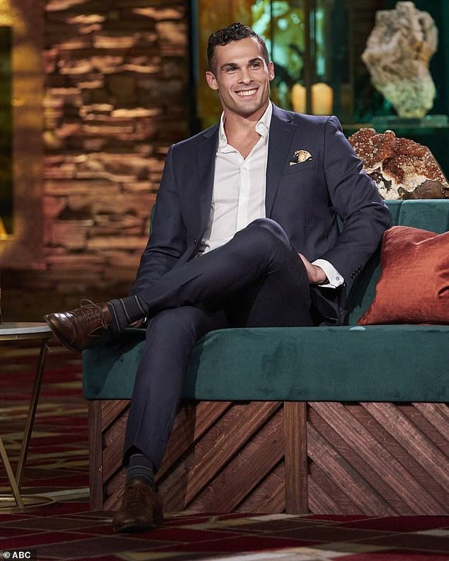 He's back:Chris then brought out Yosef Aborady, 30, a medical device salesman from Daphne, Alabama, who had insulted the season's original star of The Bachelorette, Clare Crawley, 39