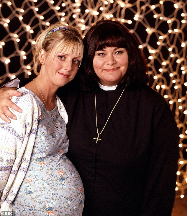 Much missed: Dawn French paid tribute to her late co-star Emma Chambers during The Vicar of Dibley In Lockdown on Monday
