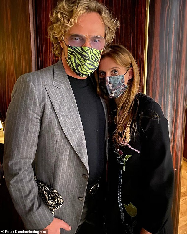 Princess Beatrice breached social distancing rules by posing with her Norwegian friend Peter Dundas (left) in Mayfair