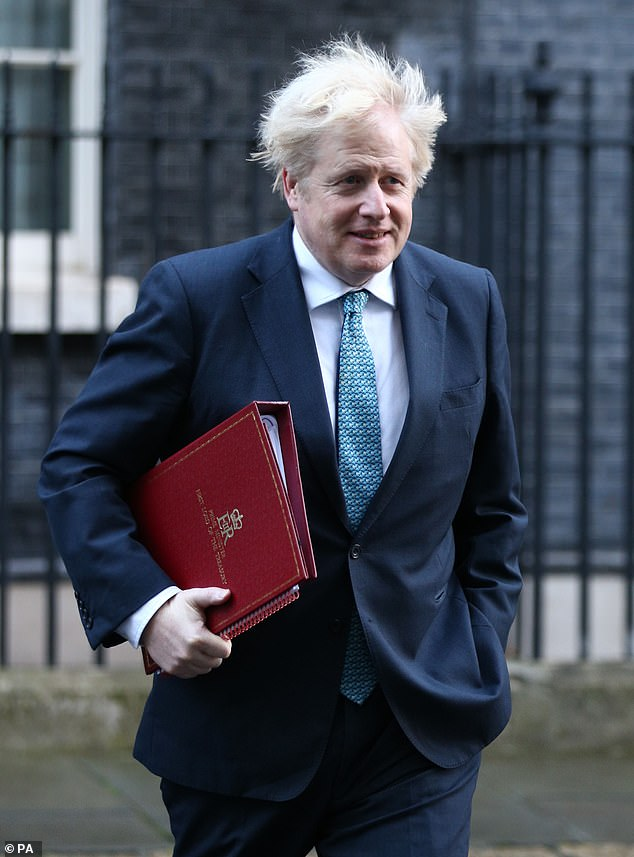Up in the air: As of Tuesday morning, treasury minister Steve Barclay said the relaxation plans were constantly being looked at (UK Prime Minister Boris Johnson pictured)