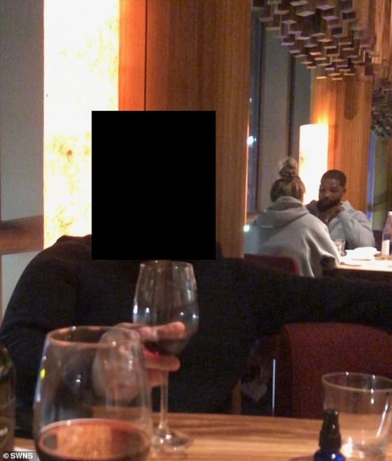 The 29-year-old basketball player was at the upscale Zuma restaurant with his female assistant while settling in his new town