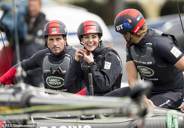 Quadruple Olympic gold medalist Sir Ben Ainslie is the Ineos Team UK skipper on the Britannia racing boat at the 36th America's Cup in New Zealand.  He is pictured with Kate Middleton in 2016 in Portsmouth