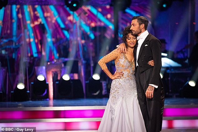 Close:There have been rumours about Ranvir and Gio's relationship, with the star admitting: 'I think it's because he had to find out a lot about me that went beyond just learning a routine'