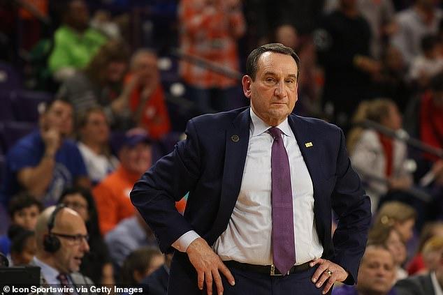 Duke coach Mike Krzyzewski has 1,157 career wins since he began coaching Army in 1975