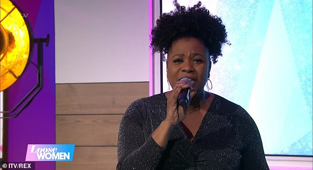 Too much:However, when fellow Loose Woman and singer Brenda Edwards surprised her with a special rendition of My Girl, the tears really began to fall