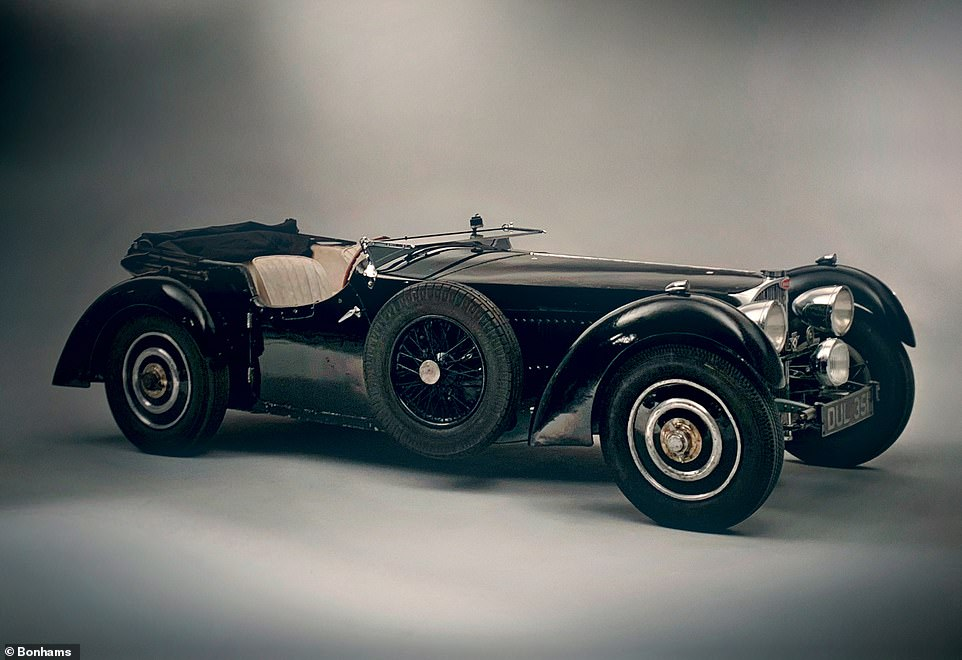 Hidden treasure: This 1937 Bugatti is considered one of the most desirable pre-war vintage cars in existence and is due to be sold at the same London auction for up to £7million