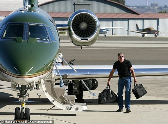 Issues: In late October, the FAA gave the green light for Harrison to resume flying following an investigation into an incident that occurred at an airport in California in April (pictured in 2010)