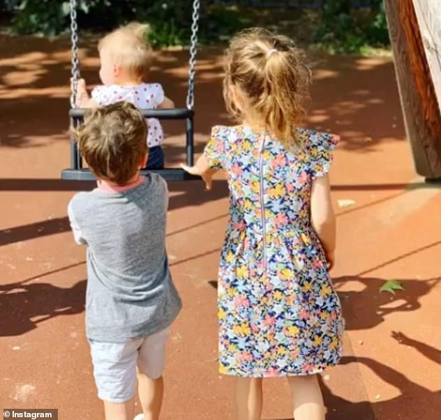 Adorable: The adored couple, who married in 2010, share two daughters - Theodora, eight, and Colette, two - and son Charlton, six