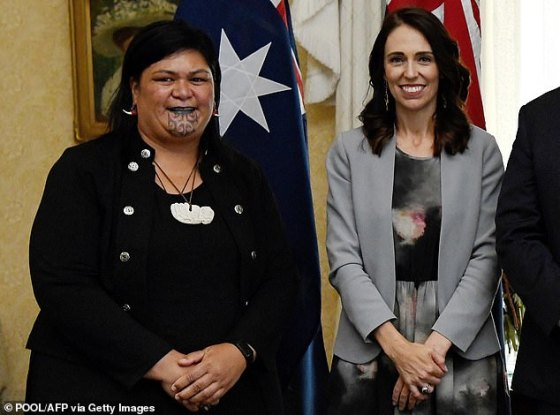 Nanaia Mahuta became the first Maori woman to take on the role of foreign minister when she was appointed by Jacinda Ardern (pictured together)