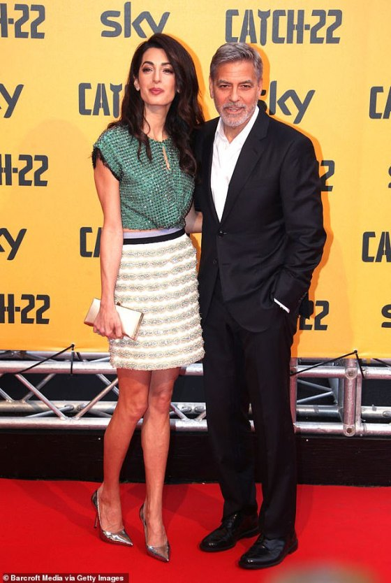 She was not happy!  George Clooney has revealed that the beard he grew for his role in The Midnight Sky was a big turnoff for his wife, human rights lawyer Amal Clooney.  Pictured on May 13, 2019 in Rome