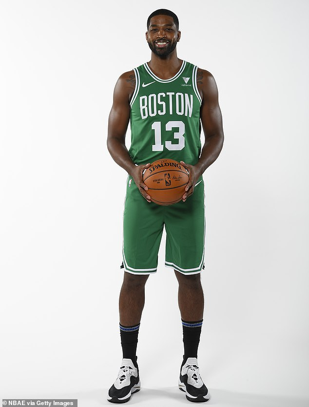 Starting over: Khloé was joining Tristan after he's been in Boston preparing for his first season with the Celtics. He previously played with the Cleveland Cavaliers; seen December 10