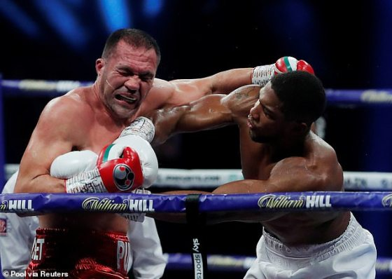 Joshua managed to defend his belts in brutal fashion by knocking down Kubrat Pulev