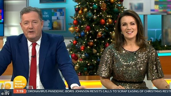 Oops!  The presenter pretended to be caught off guard when the show returned from an ad break, saying, 'Sorry, that was so uncomfortable.  I just gave the troops a bit of a morale booster '