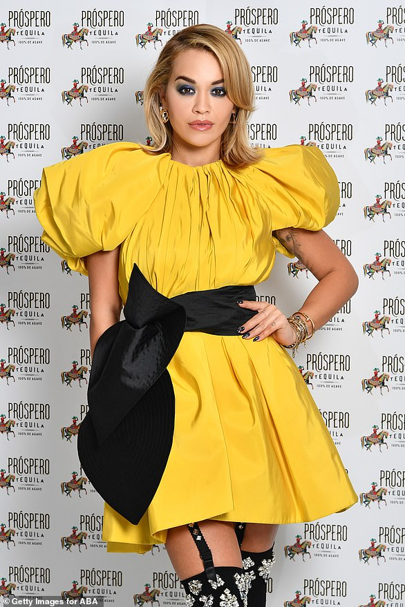 Rita Ora, at the Prospero Tequila Launch on November 23 2020. The singer received the Least Selfless award after organising in party in London and defying the covid-19 restrictions this summer