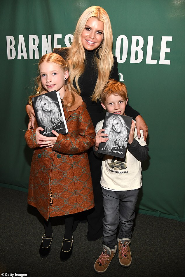 Mom time: The Dukes Of Hazzard actress is seen with the elder two of her three children in February