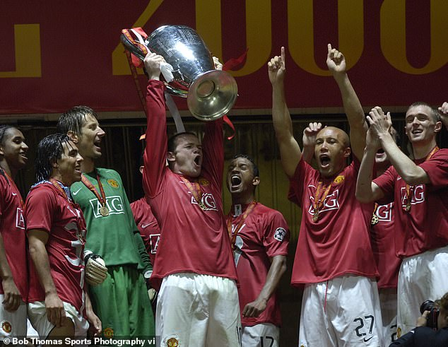 Rooney also lifted the Champions League with the Red Devils in Moscow back in 2008