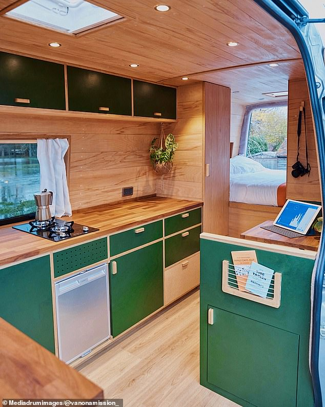 In June 2019 the couple paid £8,000 for a Ford transit van and then spent a further £4,850 renovating it